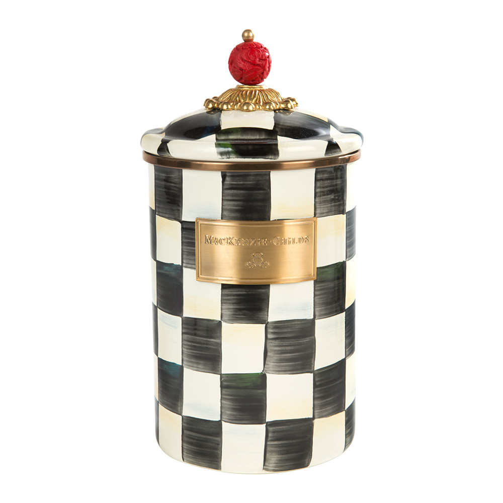 courtly-check-enamel-canister-large-335382