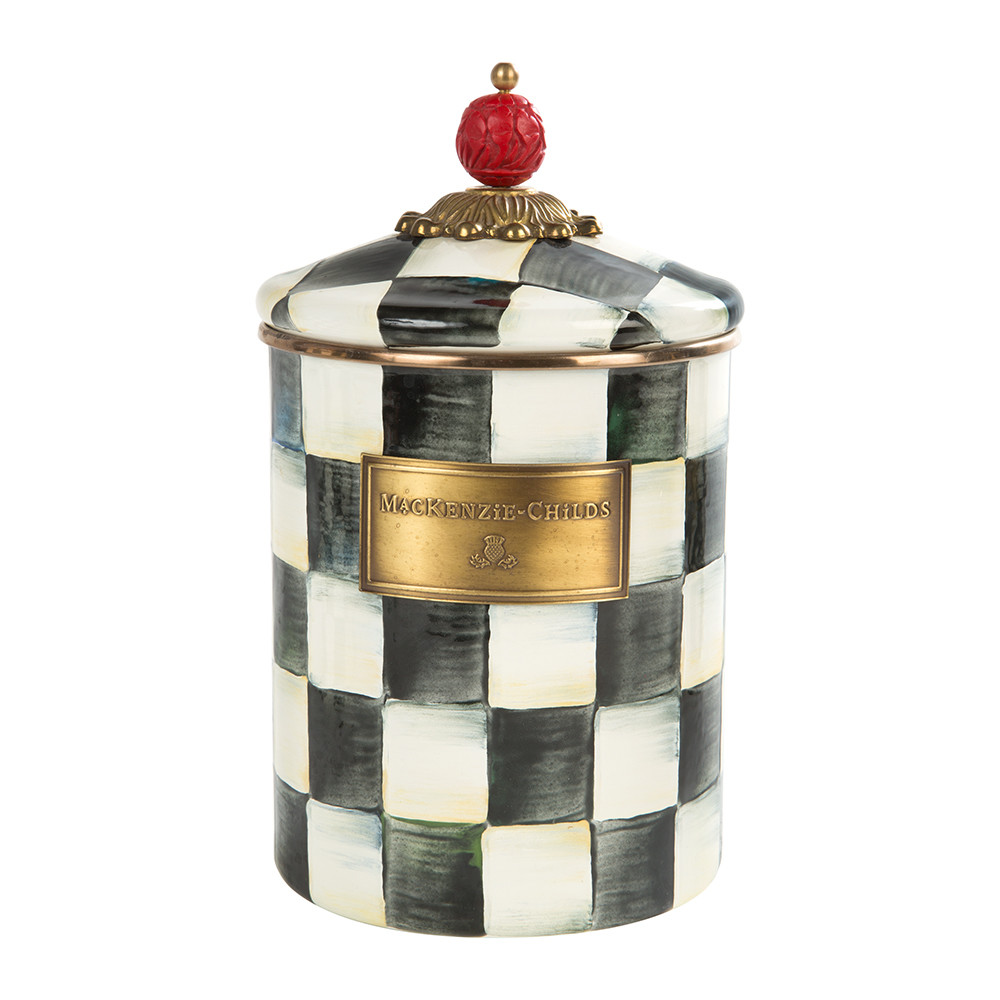 courtly-check-enamel-canister-medium-390713