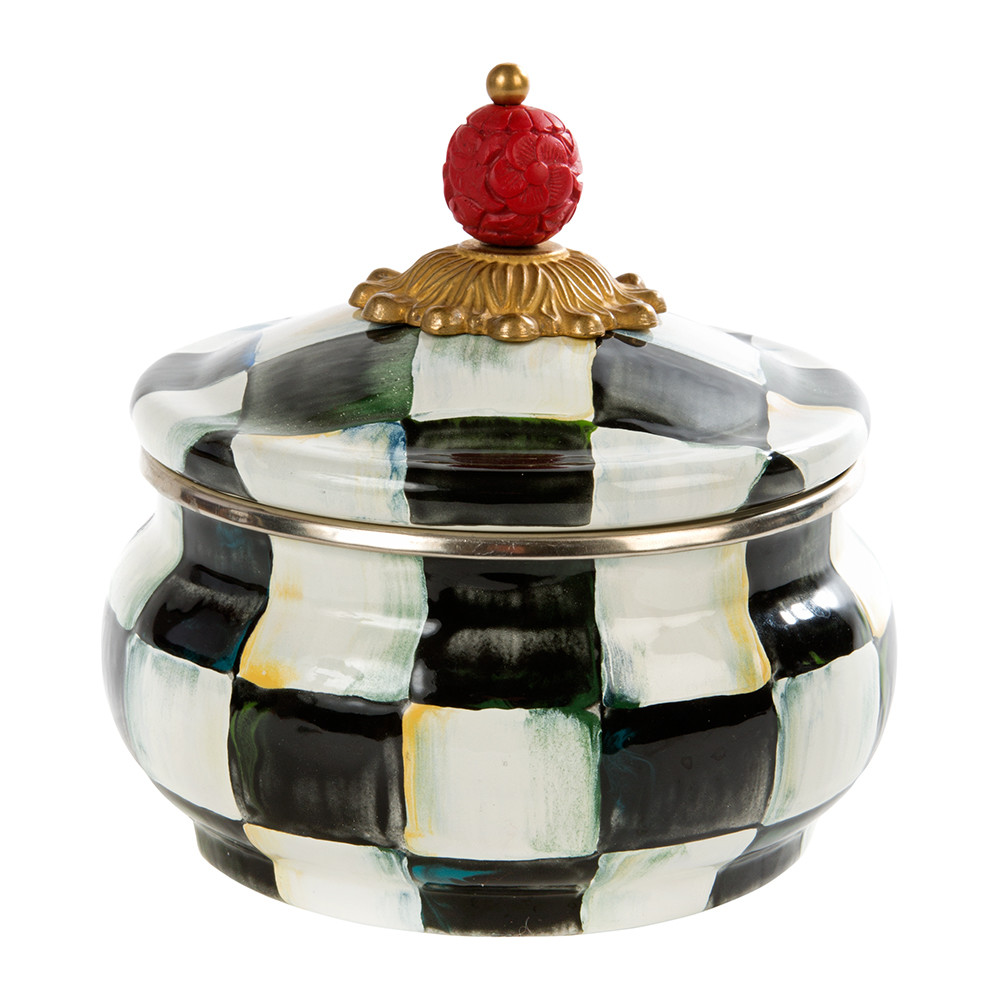 courtly-check-enamel-squashed-pot-879780