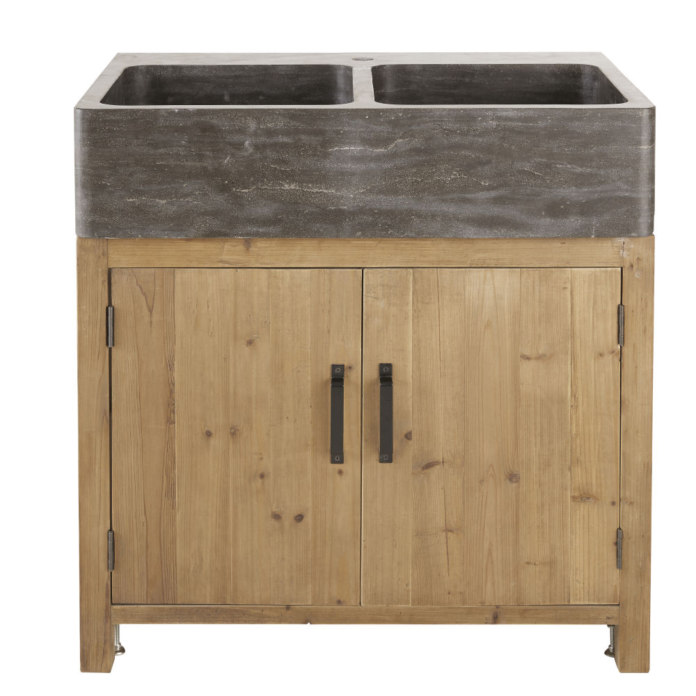 Aged-Effect-Recycled-Pine-2-Door-Kitchen-Base-Unit-for-Sink_27219517641