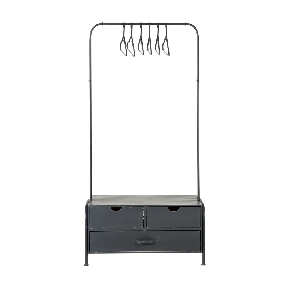 Black-Metal-Hanging-Rack-with-3-Drawers-and-6-Hangers_22085883753