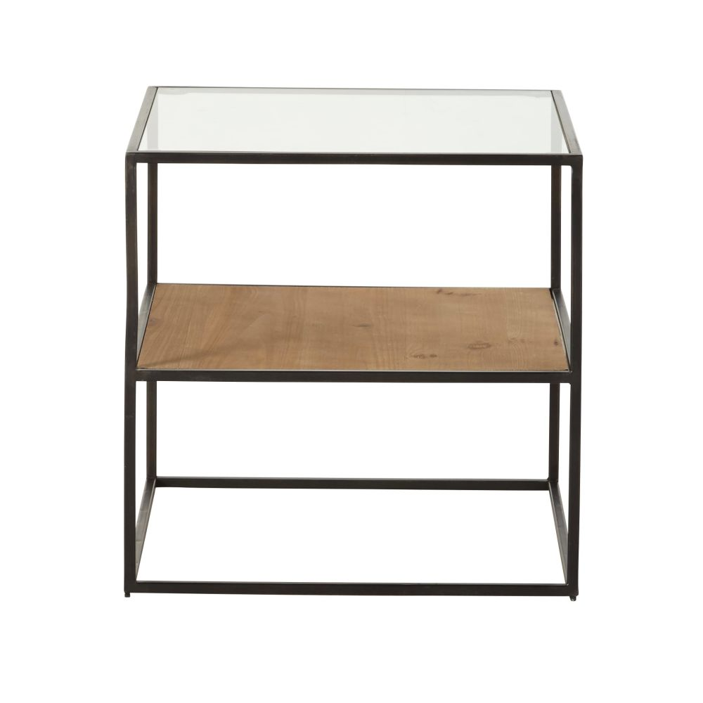 Black-Metal-and-Glass-Side-Table_23136325431