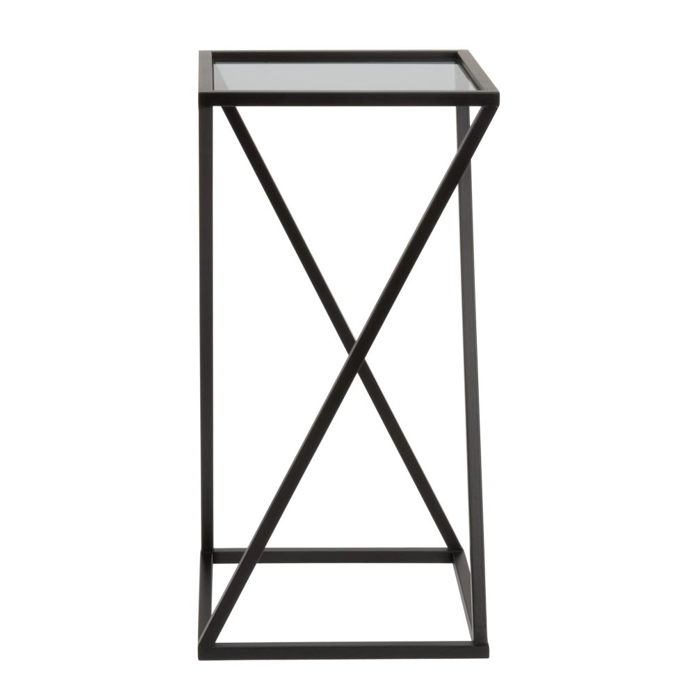 Black-Metal-and-Glass-Side-Table_26893124489