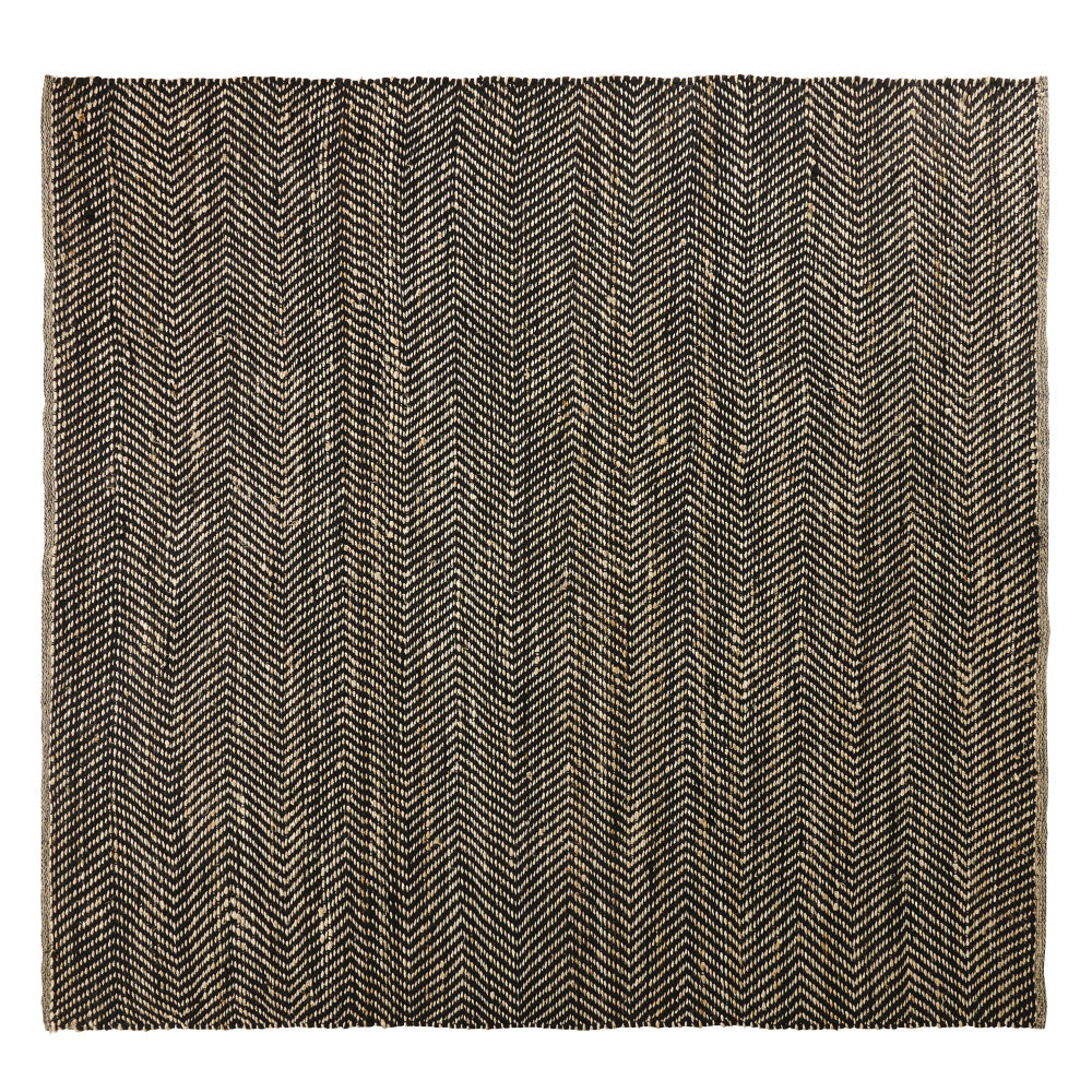 Black-and-Brown-Cotton-and-Jute-Rug-with-Chevron-Print-200x200_23136325373