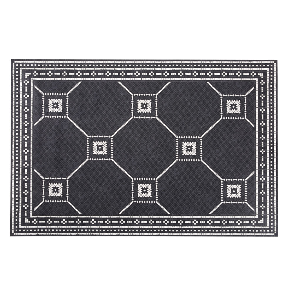 Black-and-Ecru-Vinyl-Rug-with-Cement-Tile-Print-100x150_27727823181