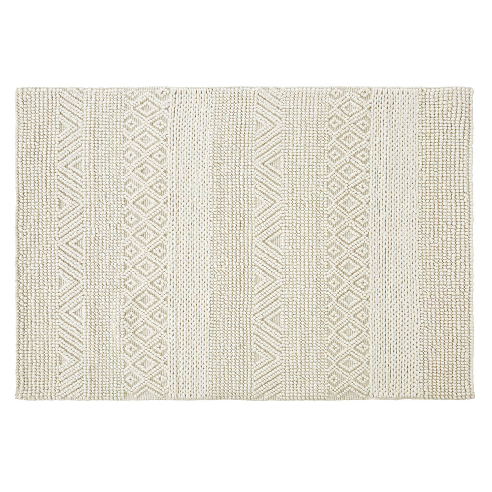 Ecru-cotton-and-wool-rug-with-3D-knots-200x300cm_28224540633