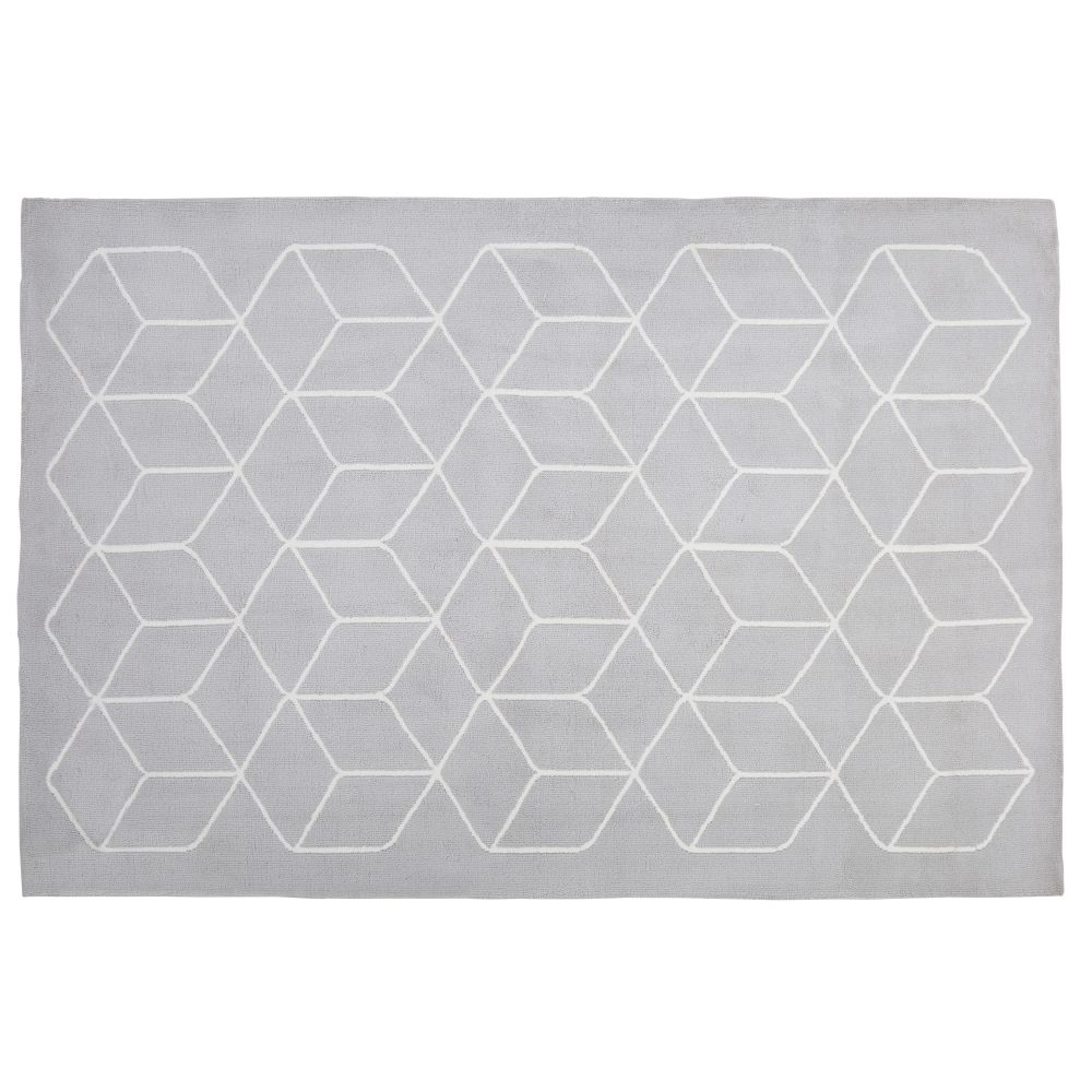 Geometric-print-tufted-rug-in-grey-and-white-160x230cm_28224540663