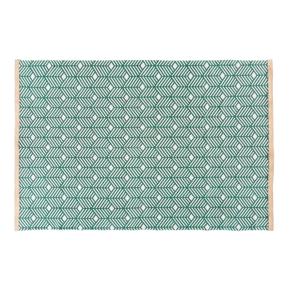 Green-Cotton-Rug-with-Graphic-Motifs-160x230_21873214311