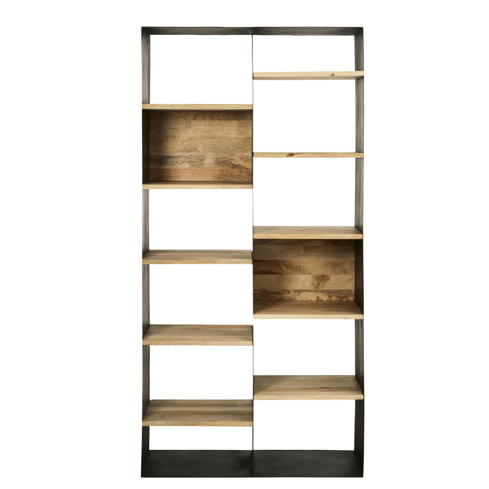 Industrial-shelving-unit-with-patina-aged-effect-black-metal-and-solid-mango-wood_28224539907