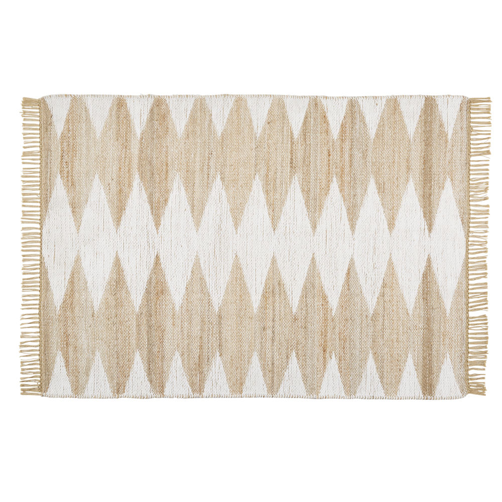 Jute-and-Cotton-Rug-with-Graphic-Print-and-Fringing-160x230_25689358997