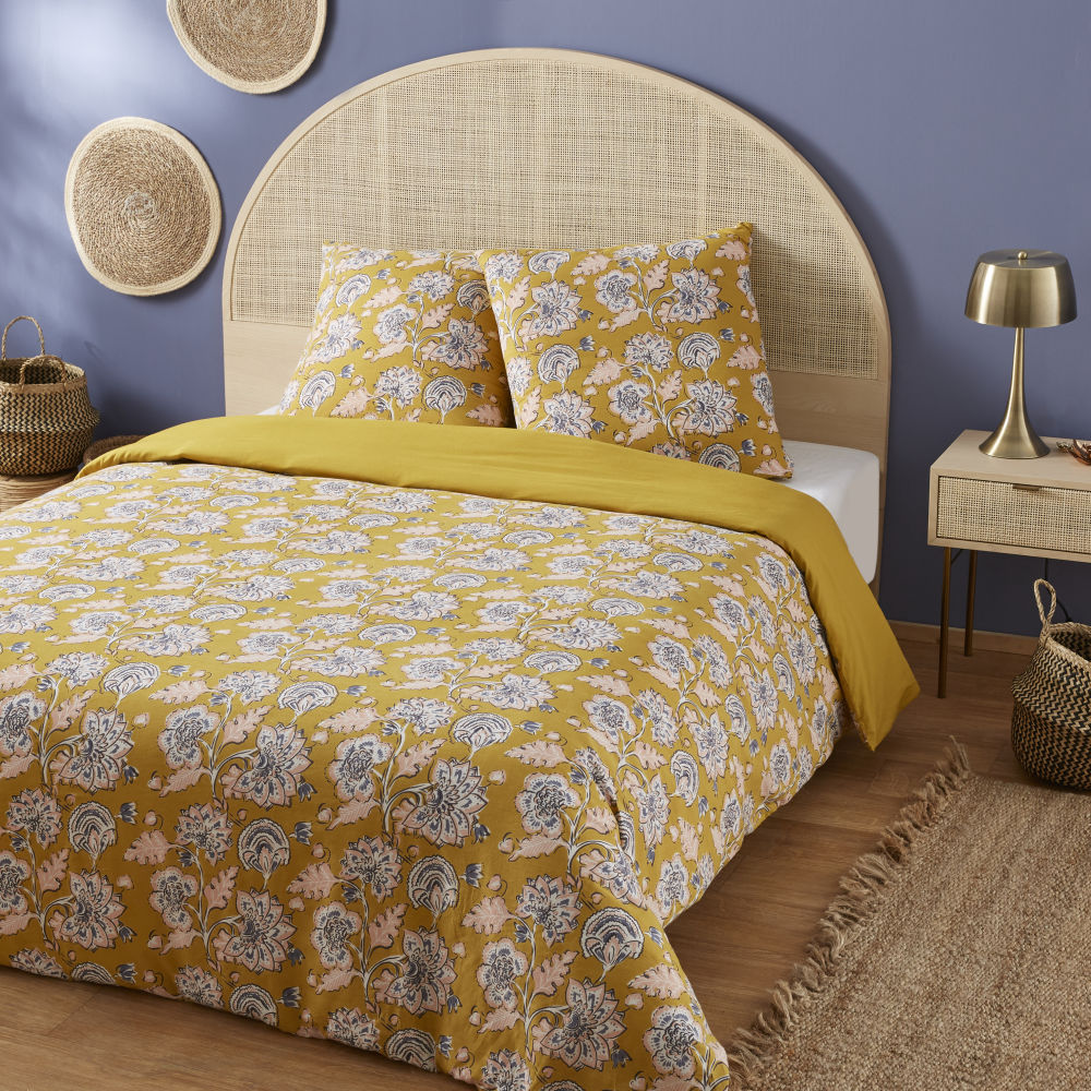 Mustard-Yellow-Cotton-Bed-Linen-with-Floral-Print-220x240_24990721853