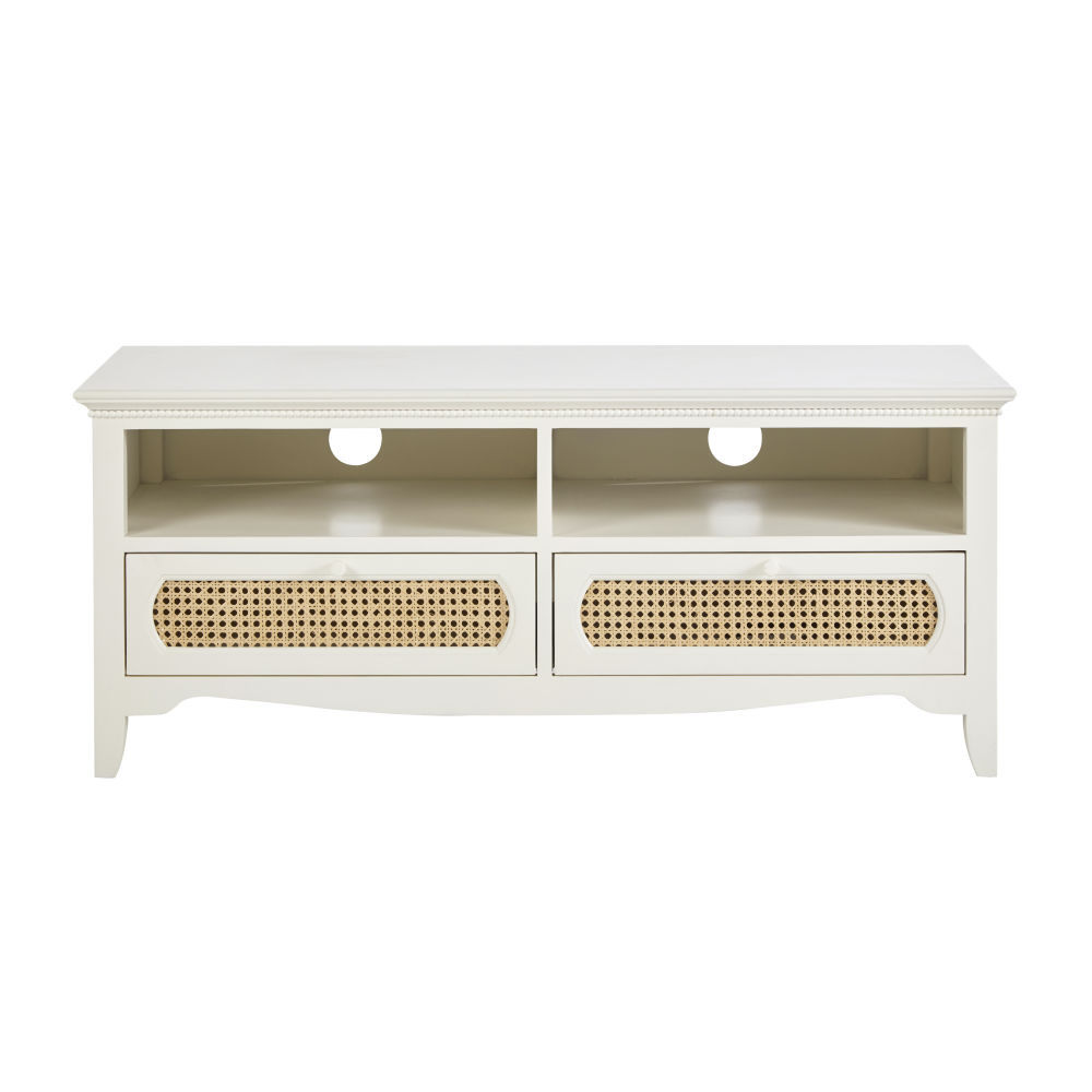 Off-white-TV-stand-cane-with-2-drawers_28224539791