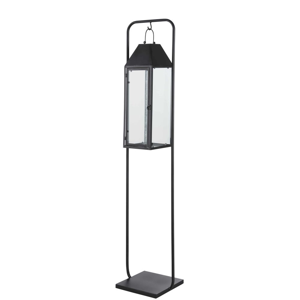 Outdoor-lantern-in-black-metal-with-stand_28224540515
