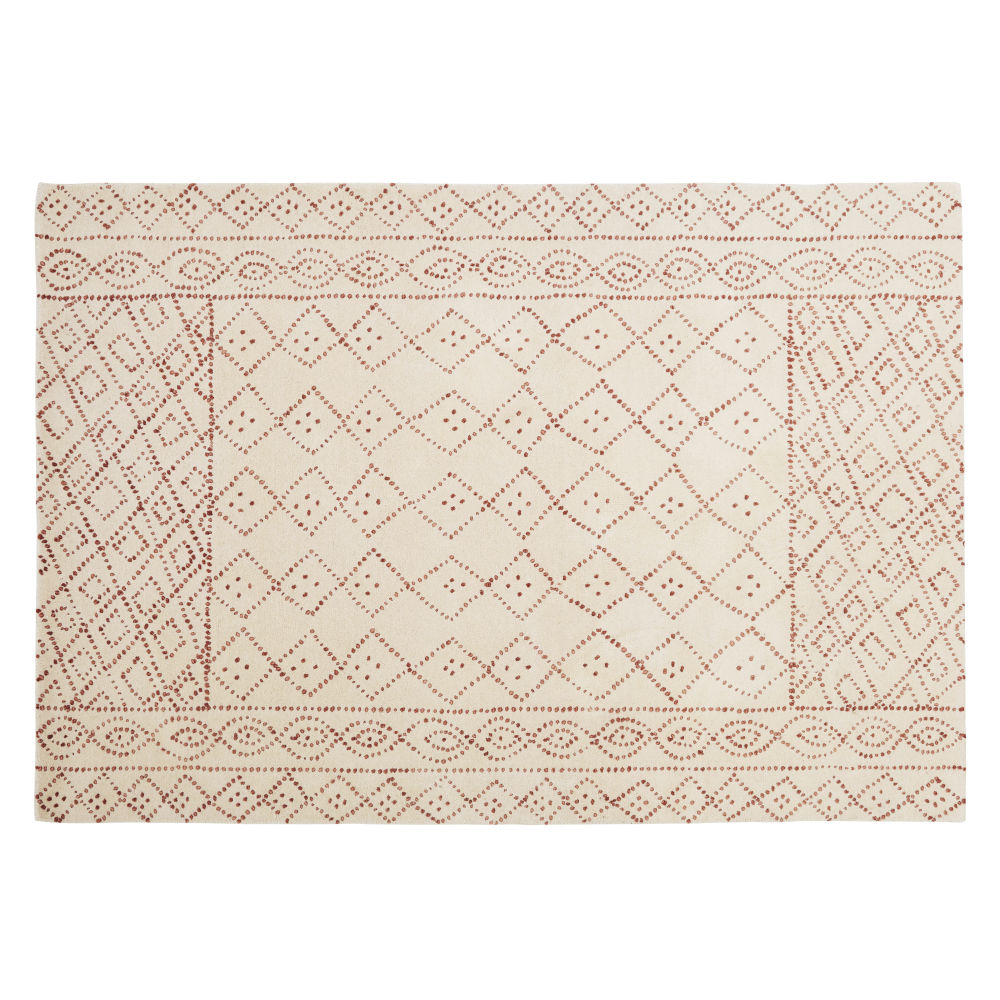 Pink-and-beige-wool-rug-with-hand-knotted-and-tufted-graphic-print-160x230cm_28224540639