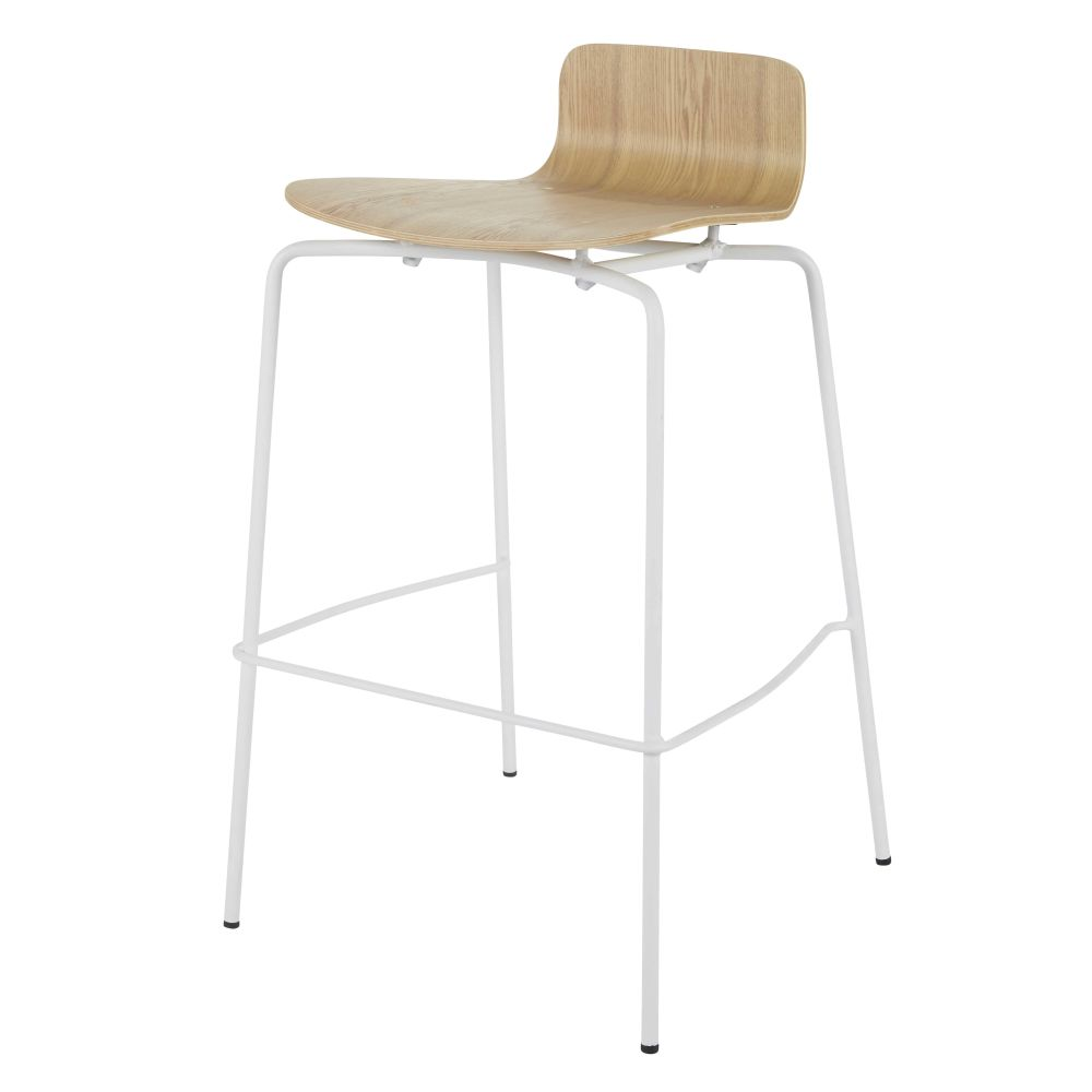 Professional-White-and-Faux-Ash-Bar-Chair_28224540033