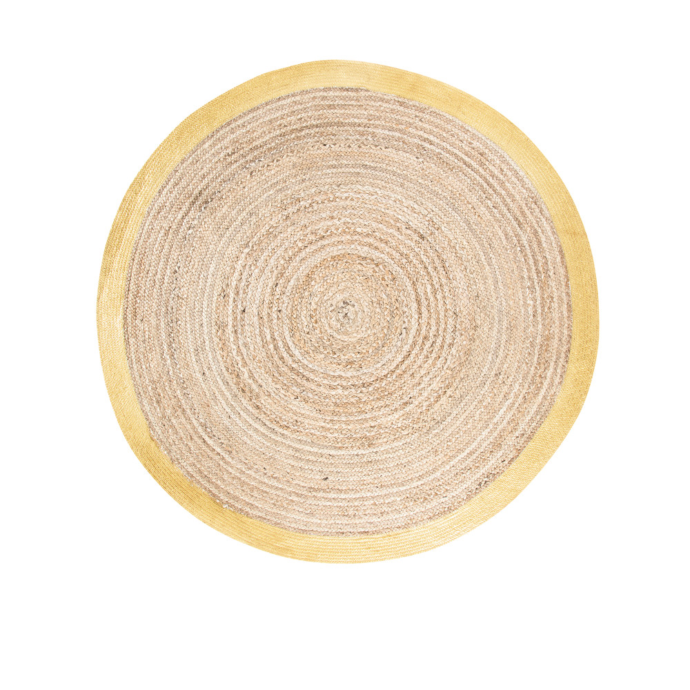 Round-Woven-Cotton-and-Jute-Mat-with-Golden-Border-D180_22597675605