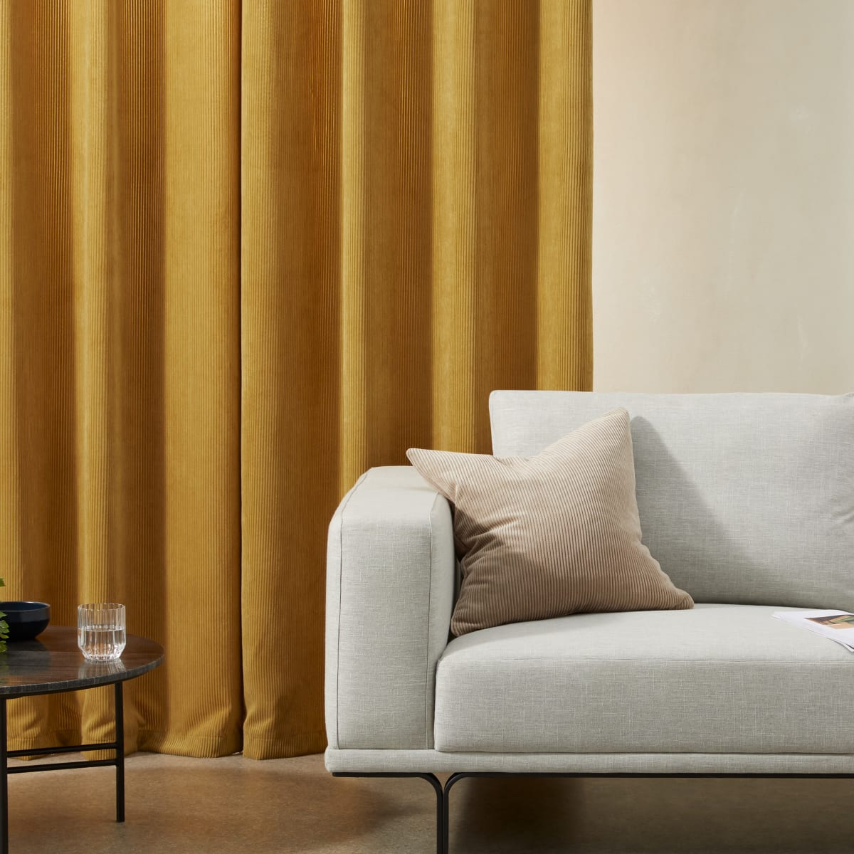 Selky-Corduroy-Eyelet-Pair-of-Curtains-140-x-260cm-Mustard-Yellow_27133932653