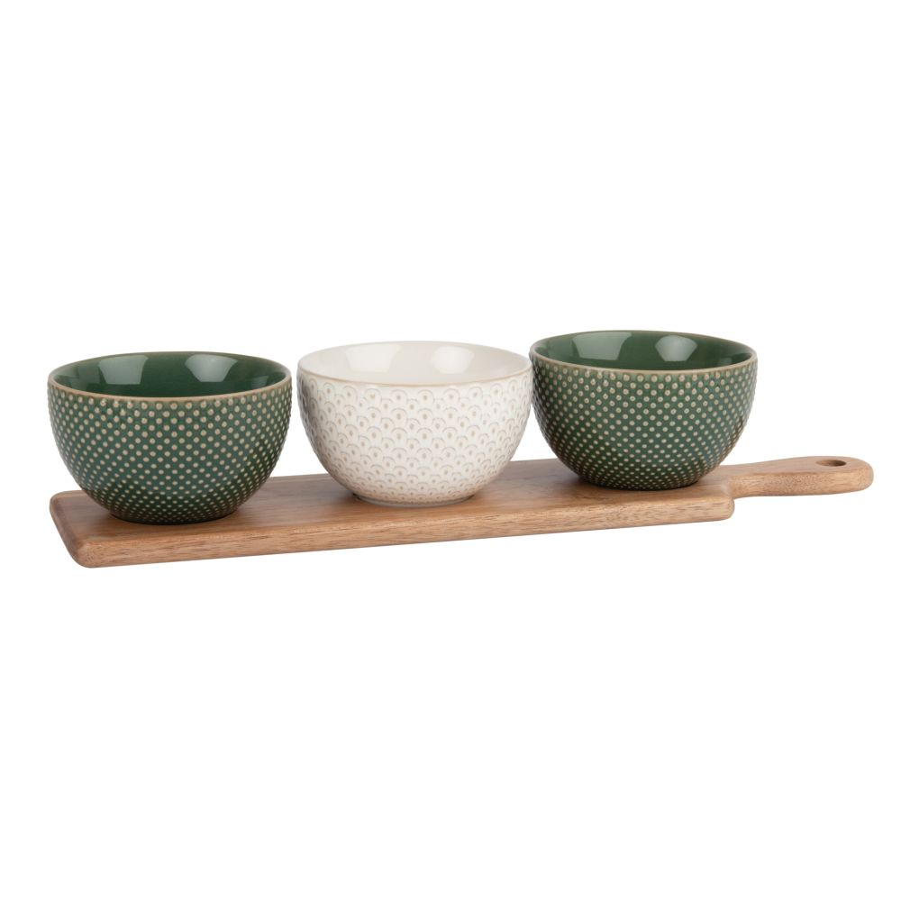 Snack-Tray-and-3-Small-Earthenware-Bowls-with-Graphic-Print_25795246925