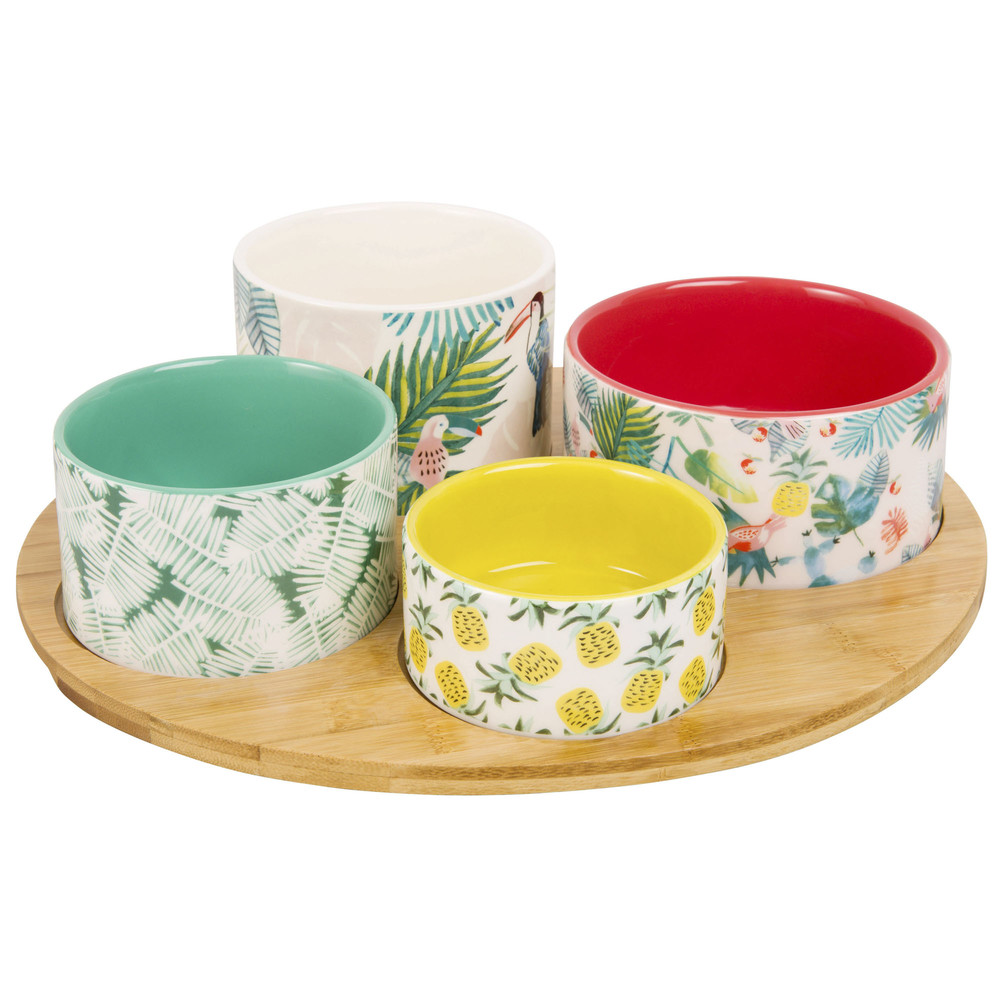 Snack-Tray-with-4-Small-Tropical-Print-Bowls_25965577331