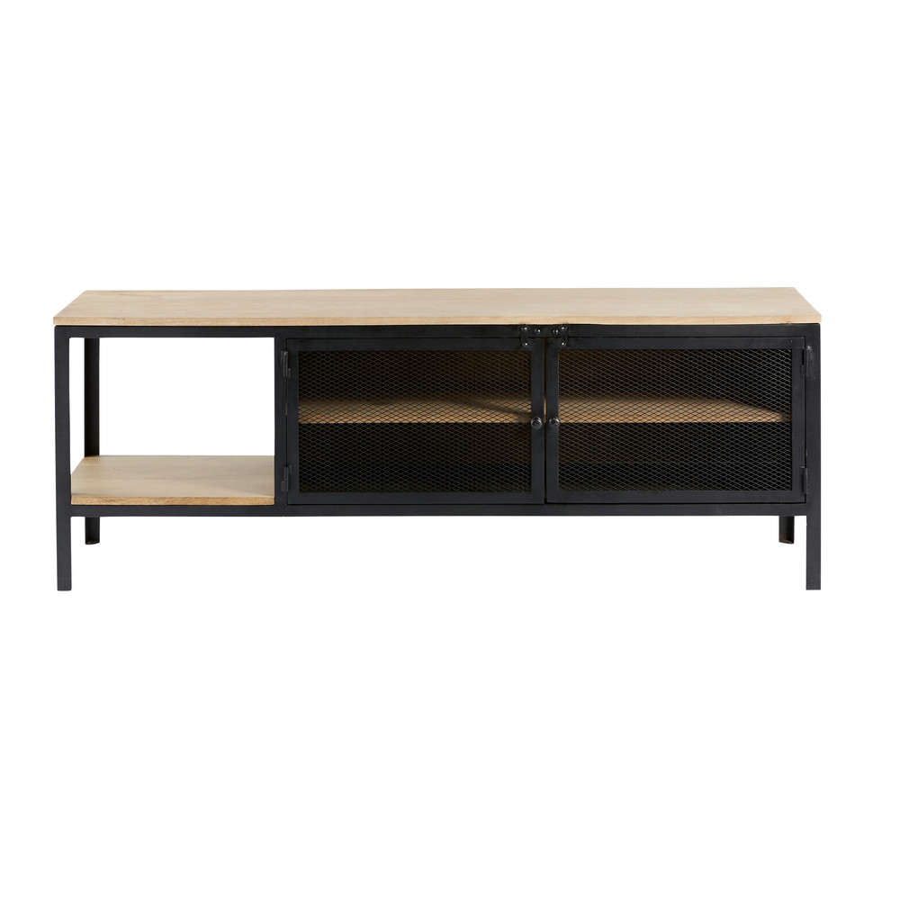 Solid-Mango-Wood-and-Black-Metal-Industrial-TV-Cabinet_21873212553