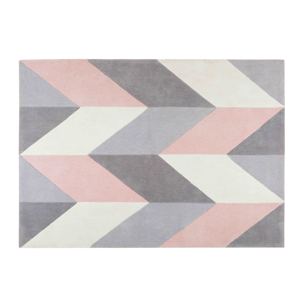 Tufted-Rug-with-Grey-and-Pink-Graphic-Motifs-140x200_21873209523