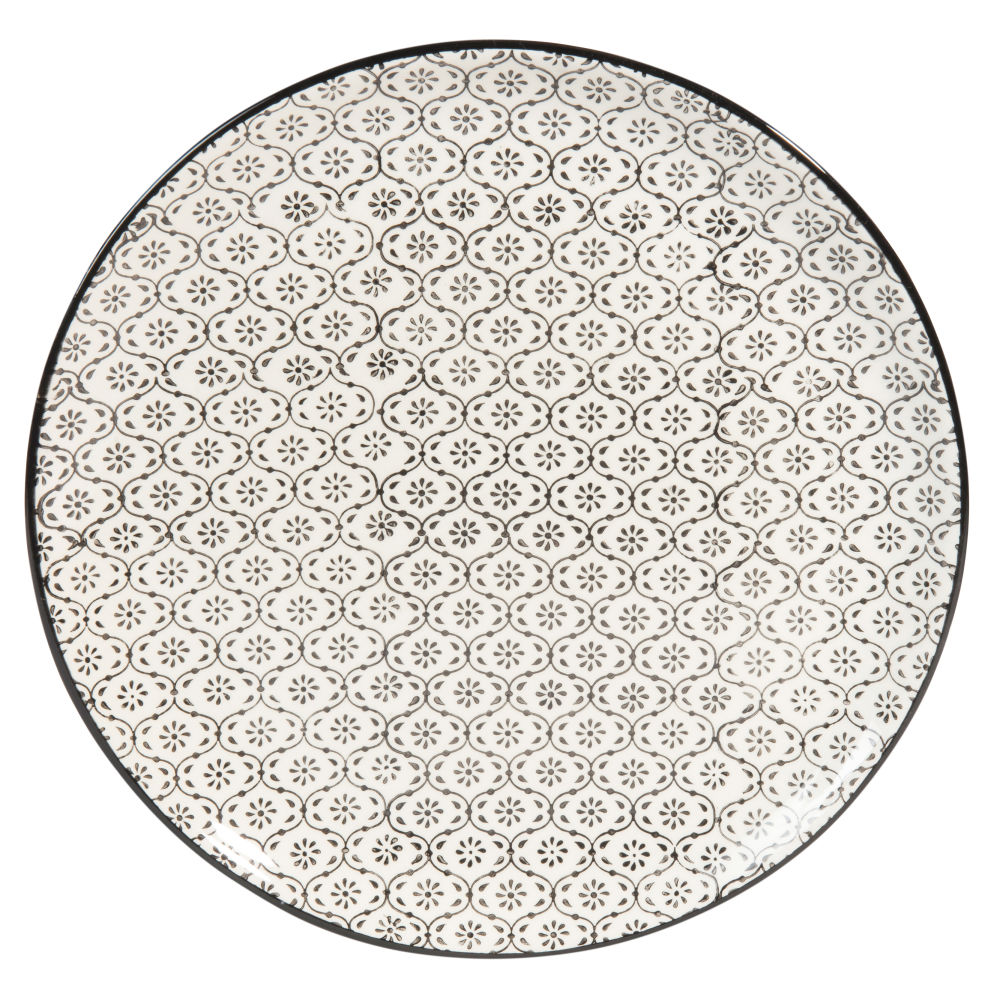 White-Arthenware-Dinner-Plate-with-Black-Graphic-Pattern_27009389363