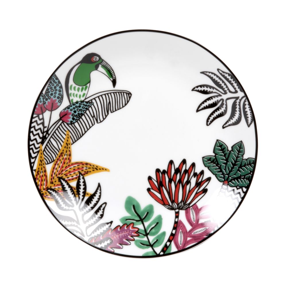 White-Porcelain-Dessert-Plate-with-Multicoloured-Toucan-and-Tropical-Print_27070855637
